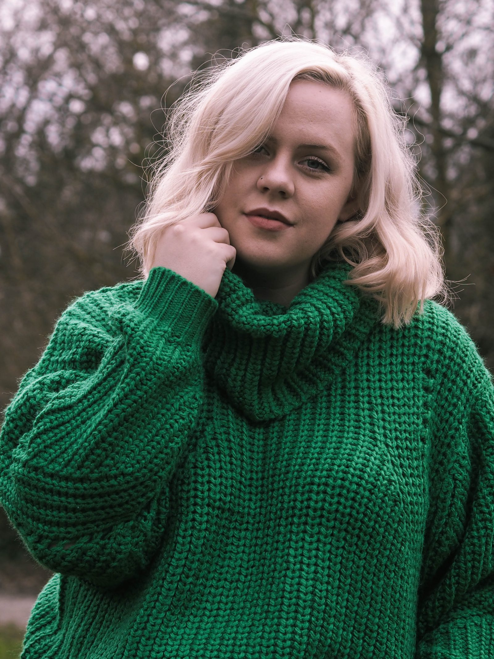 The super snuggly green jumper | rhianna olivia